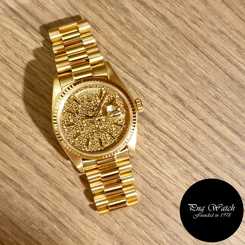 Rolex 18K Yellow Gold Champagne Computer Day-Date REF: 18038 (2)