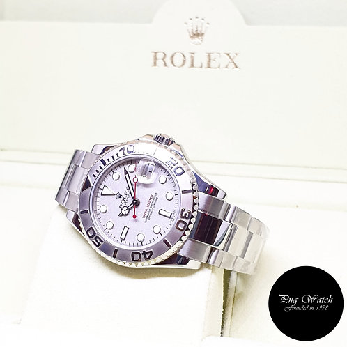 Rolex Oyster Perpetual 35mm Platinium Yachtmaster REF: 168622 (D Series)