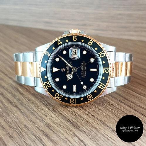Rolex 18K Half Gold Black GMT Master 2 REF: 16713 (2)