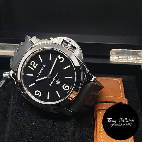 """Panerai """"LOGO"""" Luminor Black Manual Winding Watch PAM000"""