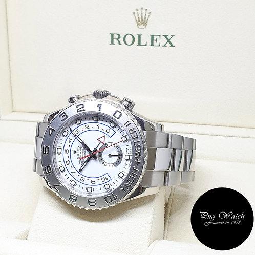 Rolex 44mm Oyster Perpetual 18K White Gold Yachtmaster II REF: 116689 (V)
