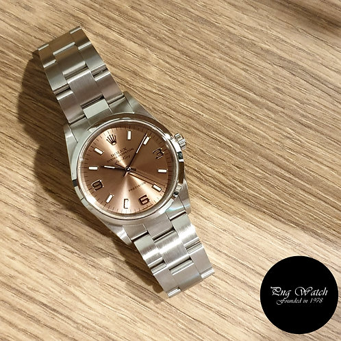Rolex Oyster Perpetual 34mm Champagne Brown Air-King REF: 14000M (2)