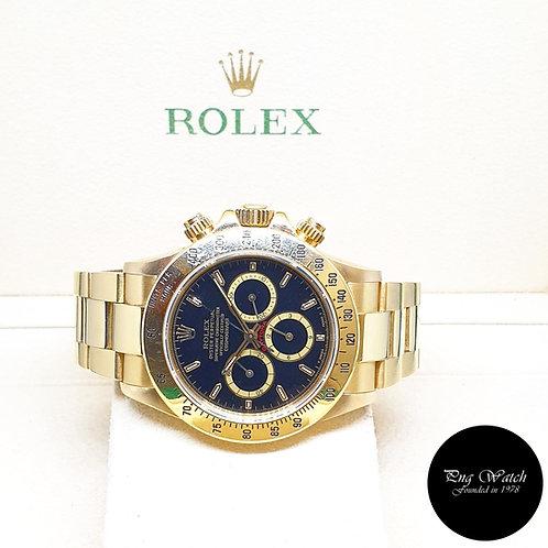 "Rolex 18K Yellow Gold Zenith Mvt ""Inverted 6"" Black Indexes Daytona REF: 16528"