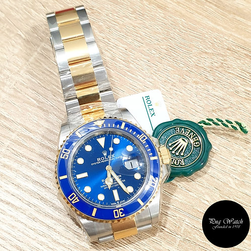 Rolex Oyster Perpetual 41mm 18K Half Gold Blue Submariner Date REF: 126613LB (2