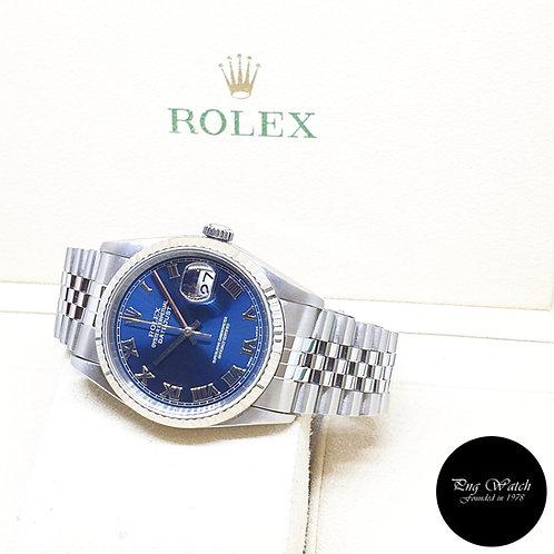 Rolex Oyster Perpetual Blue Roman Datejust REF: 16234 (U Series)