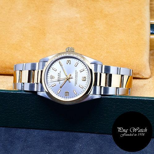 Rolex 31mm Grey 18K Half Gold Oyster Perpetual REF: 67483