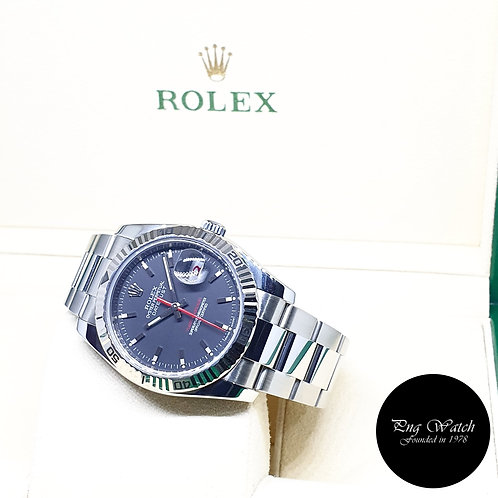 "Rolex Oyster Perpetual Black ""Turn-O-Graph"" Datejust REF: 116264 (Z Series)"