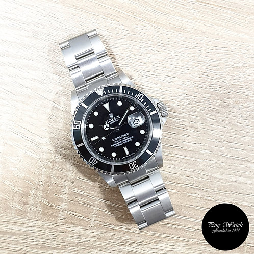 Rolex Oyster Perpetual Date Black Submariner REF: 16610 (M Series)(2)