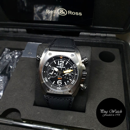 Bell and Ross Steel Marine 1000M Diver Chronograph REF: BR02-94
