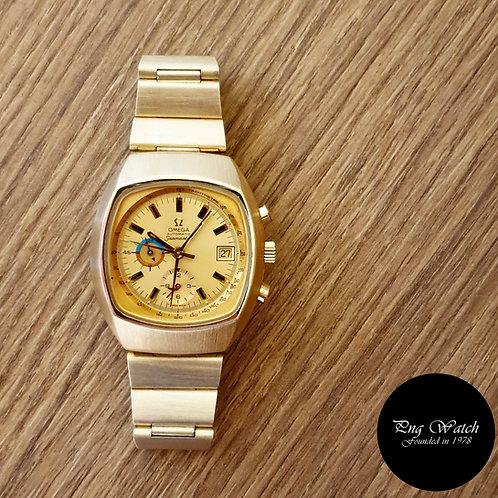 "Vintage 1970s Omega Champagne Gold Fill ""Jedi"" Seamaster Chrono REF: 176.005 (2)"