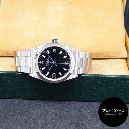 Rolex 31mm Black Steel Oyster Perpetual REF: 77080 (Full Set)