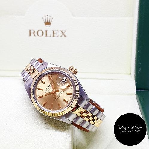 Rolex Oyster 18K Half Gold 26mm Champagne Index Datejust REF: 6917 (5.28Million)