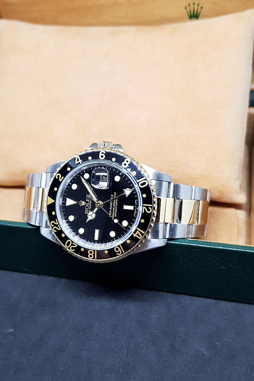 Rolex Oyster Perpetual 18K Half Gold GMT Master 2 REF: 16713