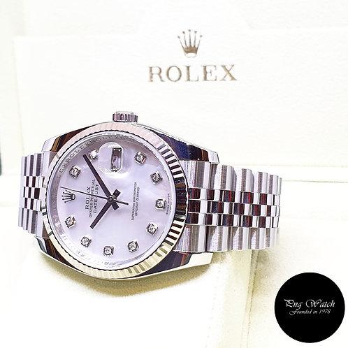 Rolex Oyster Perpetual 10PT Big Diamonds MOP 36mm Datejust REF: 116234 (2011)