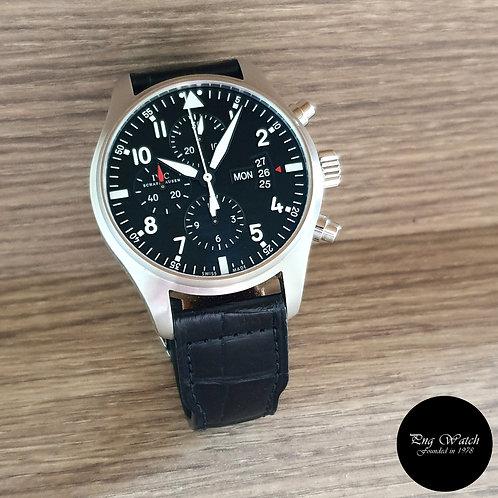 IWC Black Flieger Chronograph Pilot's Timepiece REF: 3777 (2)