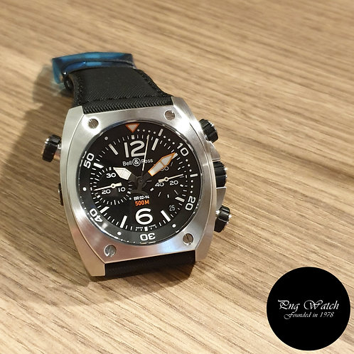 Bell and Ross Steel Marine 1000M Diver Chronograph REF: BR02-94 (2)