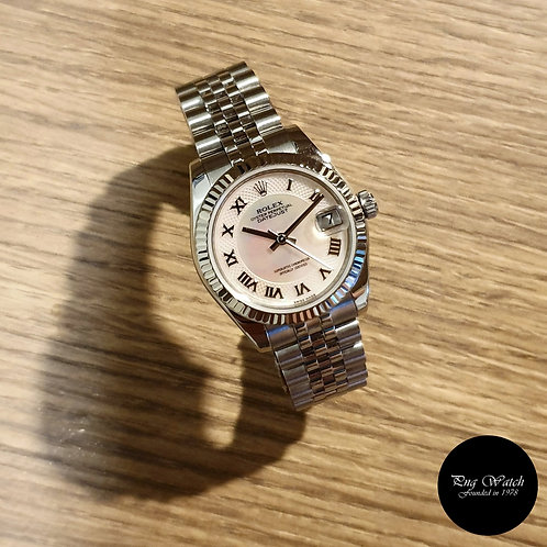 Rolex Oyster Perpetual Pink MOP Roman Datejust REF: 178274 (2)