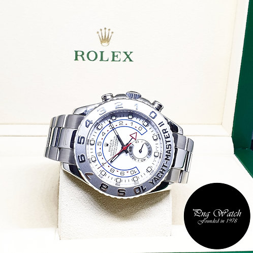 Rolex Oyster perpetual 18K White Gold Yachtmaster 2 REF: 116689 (V Series)