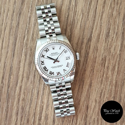 Rolex Oyster Perpetual White Roman Datejust REF: 178274 (2)