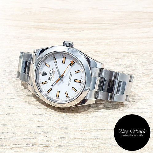 Rolex Oyster Perpetual White Milgauss REF: 116400 (2)