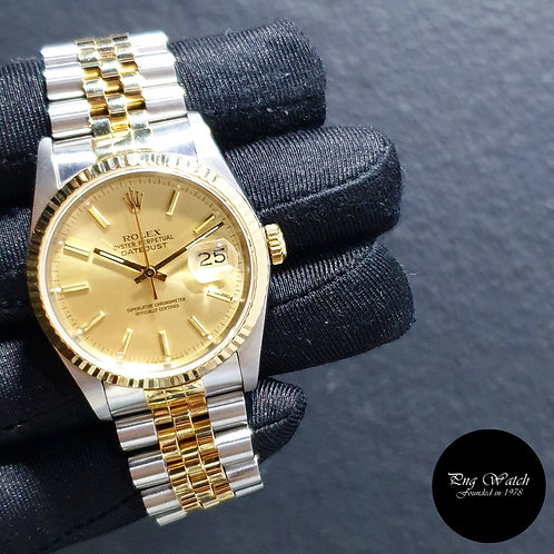 Rolex Oyster Perpetual Champagne Indexes Datejust REF: 16233 (2)