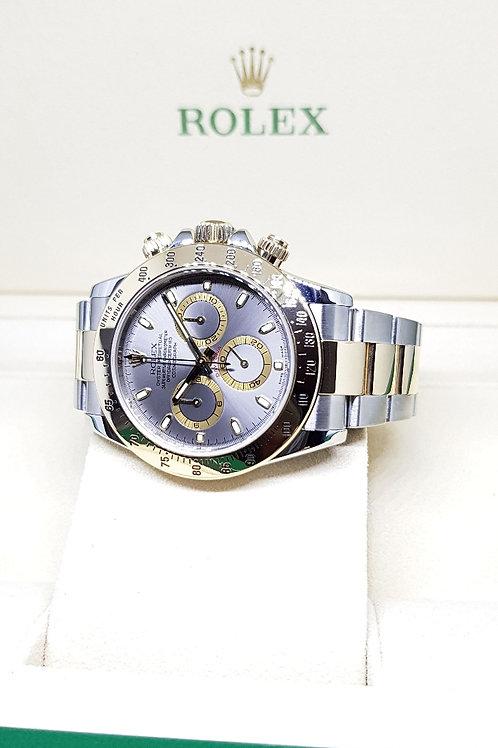 Rolex 18K Half Gold Grey Cosmograph Daytona REF: 116523