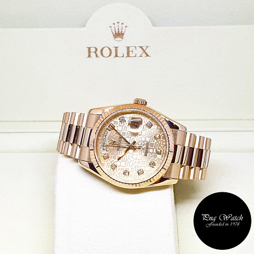 Rolex OP 18K Yellow Gold Champagne Computer Diamonds Day-Date REF: 118238