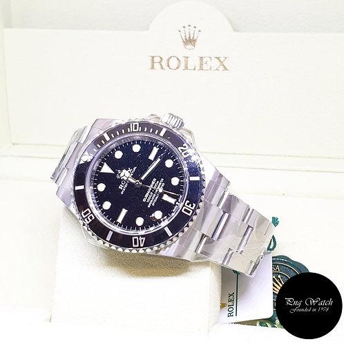 Rolex Oyster Perpetual Steel Ceramic 41mm No Date Black Submariner REF: 124060