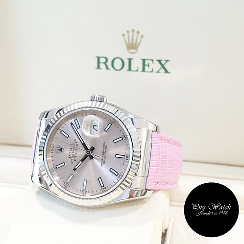 Rolex 18K White Gold 36mm Silver Indexes Datejust REF: 116139 (2018)