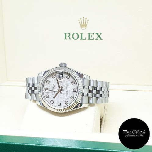 Rolex Oyster Perpetual 31mm Meteorite Diamonds Datejust REF: 178274 (AN Series)