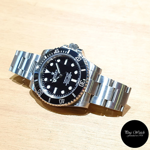 Rolex Oyster Perpetual Steel Ceramic No Date Black Submariner REF: 114060 (2)