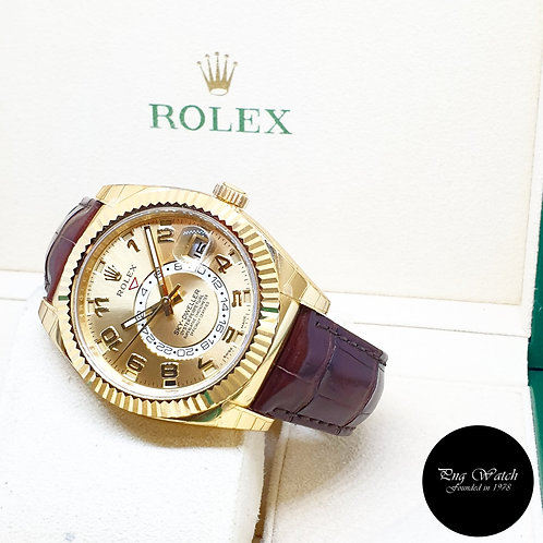 Rolex Oyster Perpetual 18K Yellow Gold Champagne Sky Dweller REF: 326138 (2018)