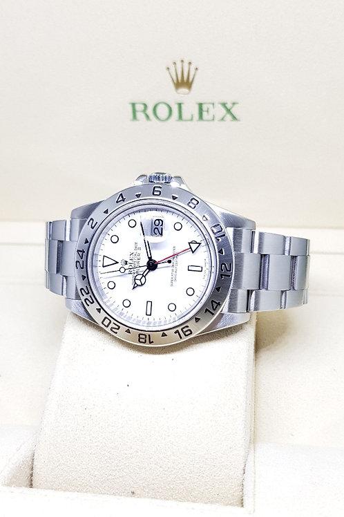 "Rolex White ""POLAR"" 40mm Explorer 2 REF: 16570"