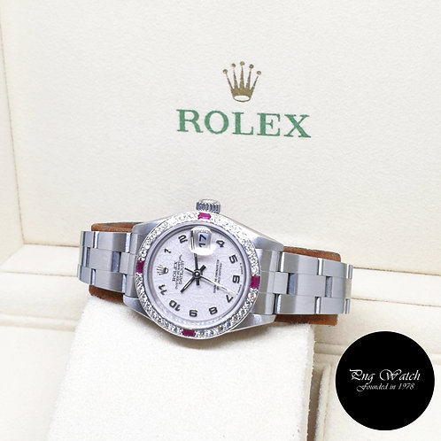 Rolex Oyster Perpetual 26mm Ladies Ivory Computer Datejust REF: 69174 (W)