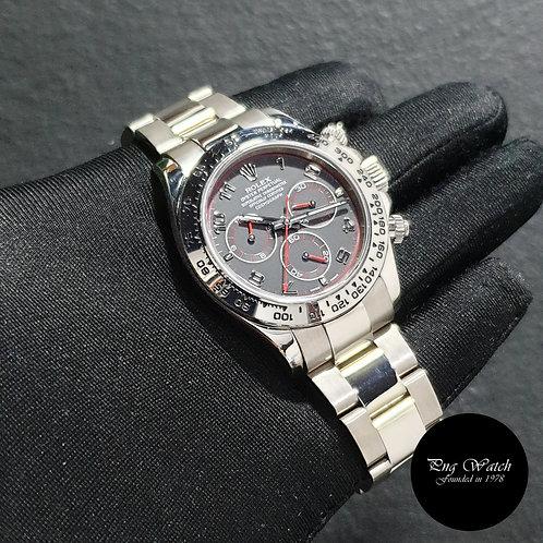 """Rolex Oyster Perpetual 18K White Gold """"SPYDER"""" Black Daytona REF: 116509 (06)(2)"""
