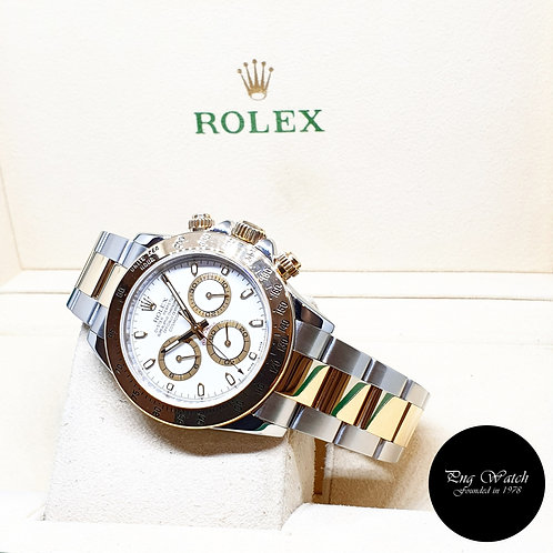 Rolex Oyster Perpetual 18K Half Gold White Indexes Daytona REF: 116523 (2009)