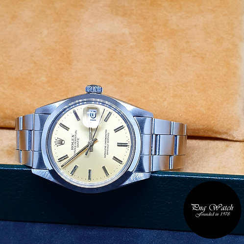 Rolex Champagne 34mm Oyster Perpetual REF: 1500