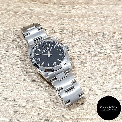 Rolex 31mm Black 3,6,9 Oyster Perpetual REF: 77080 (K)(2)