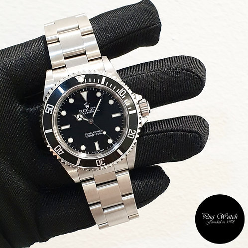 Rolex Oyster Perpetual No Date Black Submariner REF: 14060 (P Series)(2)