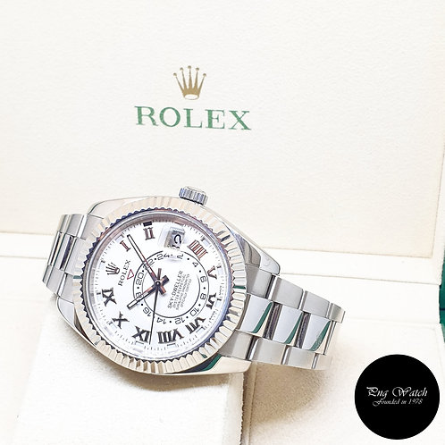 Rolex Oyster Perpetual 18K White Gold Ivory Sky Dweller  REF: 326939 (2015)
