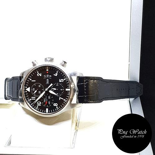 IWC Black Flieger Chronograph Pilot's Timepiece REF: 3777 (NOS)