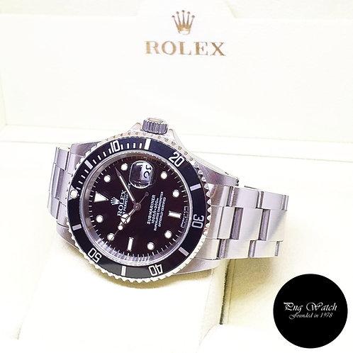 Rolex Oyster Perpetual Tritium Black Steel Submariner Date REF: 16610 (T)