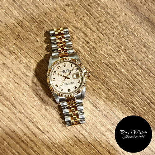 Rolex Oyster Perpetual 18K Half Gold Beige Computer Datejust REF: 68273 (2)