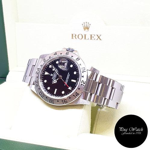 "Rolex Oyster Perpetual Tritium ""TRINOVA"" Black Explorer 2 REF: 16570"