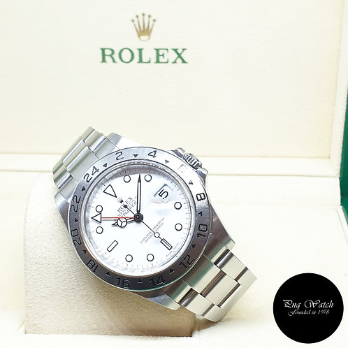 "Rolex Oyster Perpetual White ""POLAR"" Explorer 2 REF: 16570 (3186 Movement)"