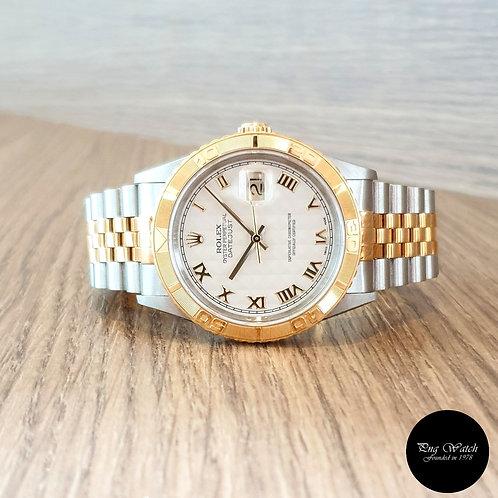 "Rolex 18K Half Gold Ivory Pyramic ""TOG"" Datejust REF: 16263 (2)"