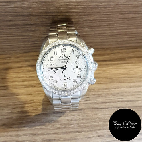 Omega Speedmaster with Diamond bezel and White MOP Dial (2)