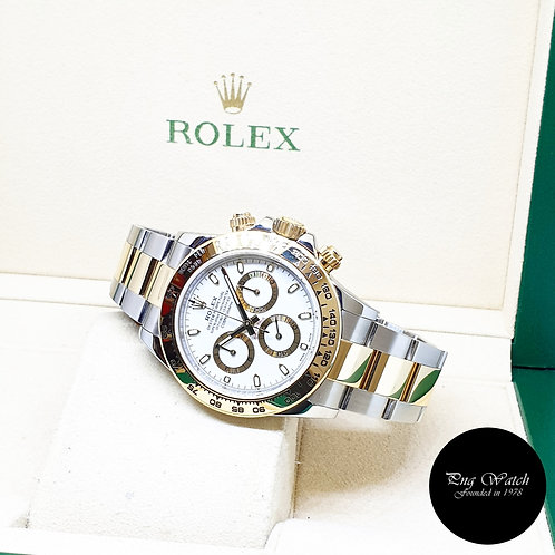 Rolex Oyster Perpetual 18K Half Gold White Indexes Daytona REF: 116503 (2017)
