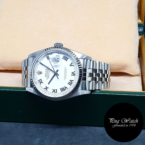 Rolex Oyster Perpetual White Roman Datejust REF: 16234