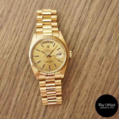 Rolex 18K Yellow Gold Champagne Index Day-Date REF: 18038 (2)